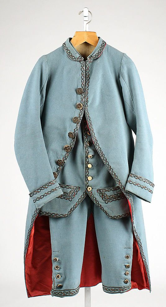 Suit  Date: ca. 1780 Culture: British Medium: wool