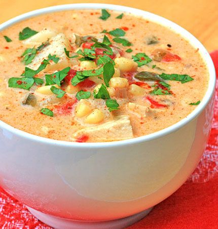 smoked-chicken-chowder... This one sounds awesome