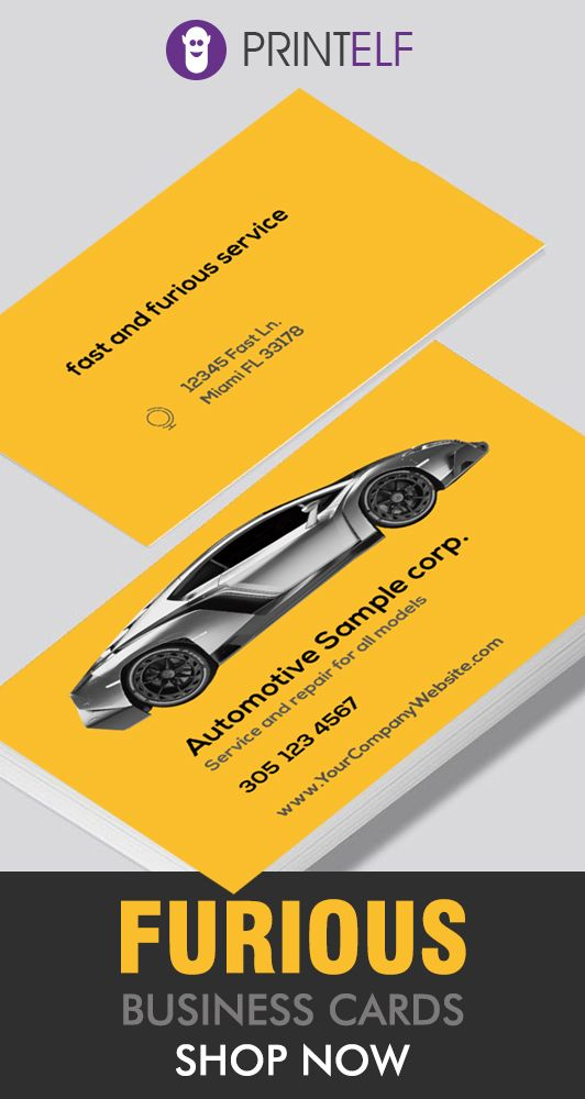 Pin By Printelf Printing Design S On Automotive Business Cards
