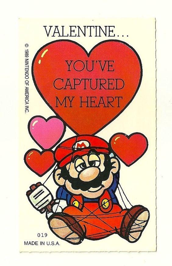 Vintage 1989 Nintendo of America Super Mario Bros Valentines Day – Super Mario Bros Valentine Cards