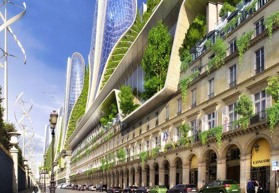 Top 10 des photos de Paris en 2050 par l'architecte Vincent Callebaut