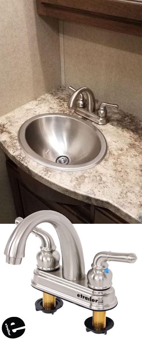 rv bathroom faucet dual teacup handle