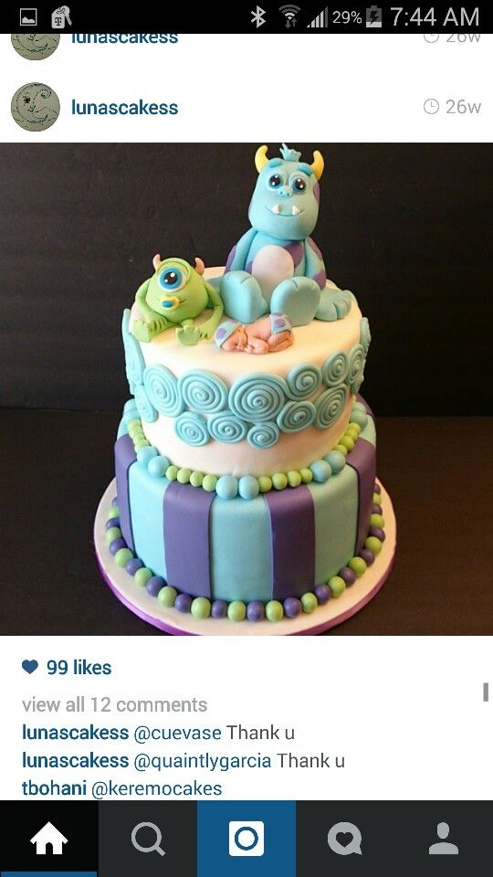 baby shower monsters inc cake monster inc party cake monster inc baby