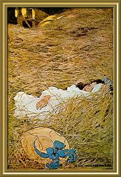 The happy hills of hay - A Child's Garden of Verses by Robert Lovis Steveson; published by Charles Scribner's Sons, 1905