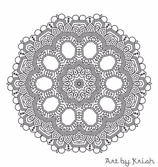 206 printable intricate mandala coloring pages krishthebrand mandala coloring pinterest