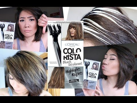 How To Do Highlights At Home Diy Highlight Colorista Kit By Loreal Paris Review Blonde Highlights On Dark Hair Diy Highlights Hair Dark Hair With Highlights