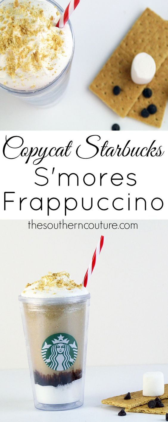 You no longer have to have a Starbucks nearby to enjoy the delicious goodness of their new and limited time only s'mores frappuccino. Let thesotherncouture.com show you how easy it is to make your own. Be sure to take down your grocery list now before heading out again.