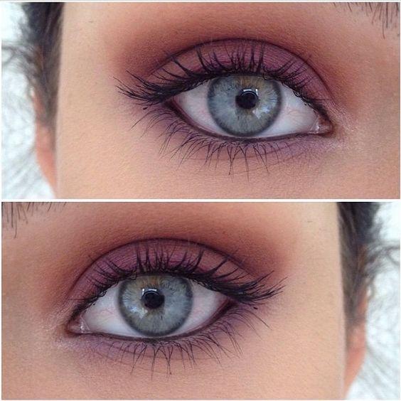 Sharing a new artist @sophialcsmakeup stunning warm smokey eyes with natural lashes STUNNING #vegas_nay