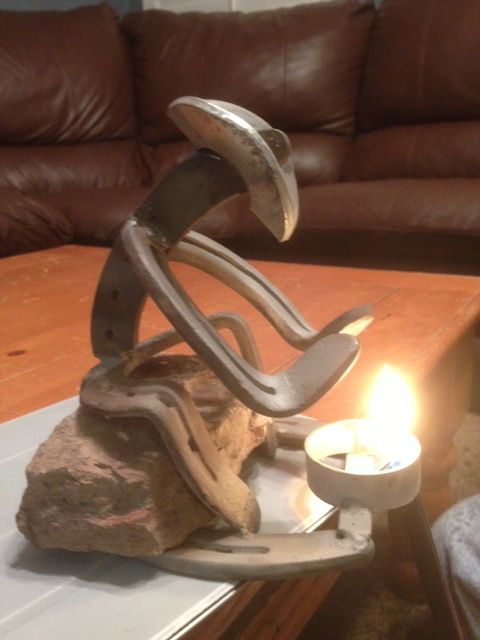 Horseshoe cowboy or cowgirl by the fire this weekend for Old horseshoe projects