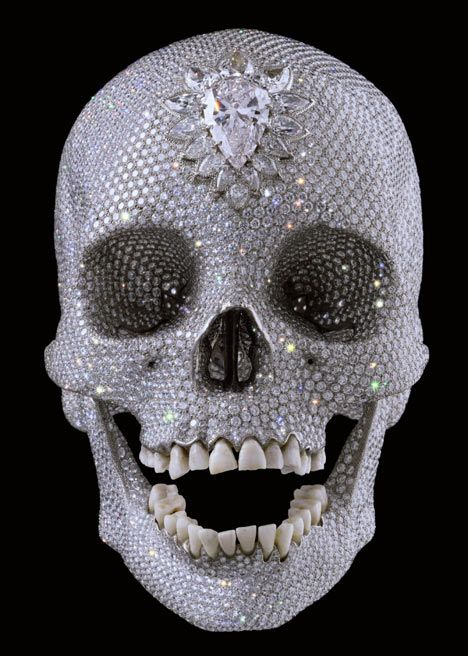 What is this marvelous thing besides a 'skull?' It's encrusted in diamonds or at least crystals although the teeth look real...what the heck?