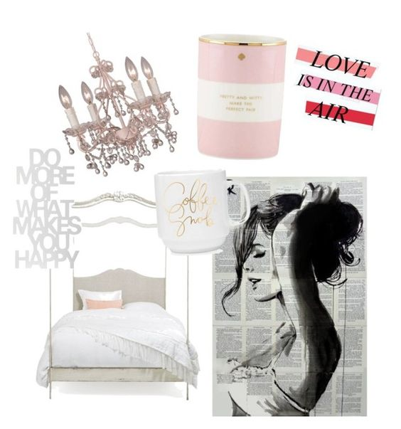 """SheK"" by bodyrebound on Polyvore featuring interior, interiors, interior design, home, home decor, interior decorating, Kate Spade and Crystorama"