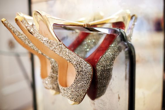 silver sequin wedding shoes - photo by Houston based wedding photographer Adam Nyholt