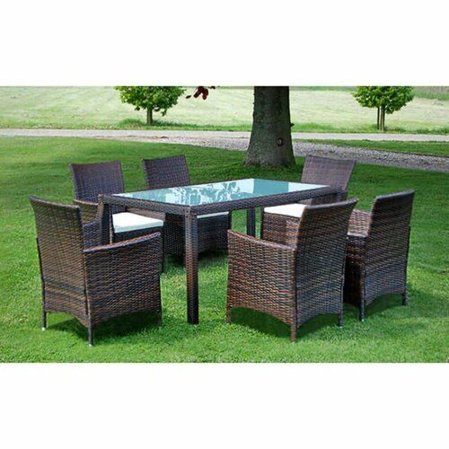 Sol 72 Outdoor Cole 6 Seater Dining Set With Cushions Garden