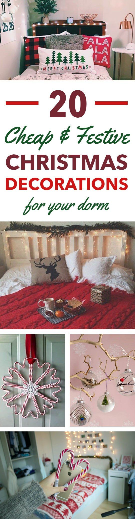 Holiday room decor diys for college