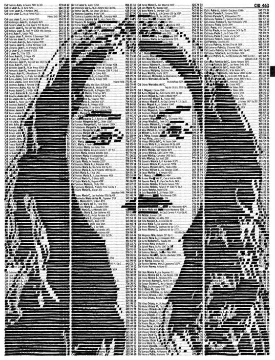 Artist Carlos Zuniga relies on these trusty printed books to produce his work, a creative interpretation of written text transformed into visual delights. This series Next is a collection of portraits where Zuniga blacks out certain bits of text to form the image in the negative space.