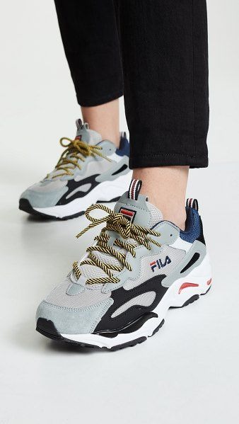 Fila Ray Tracer Sneakers in 2020 | Tennis shoes outfit