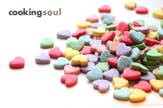 разноцветное печенье сердечки