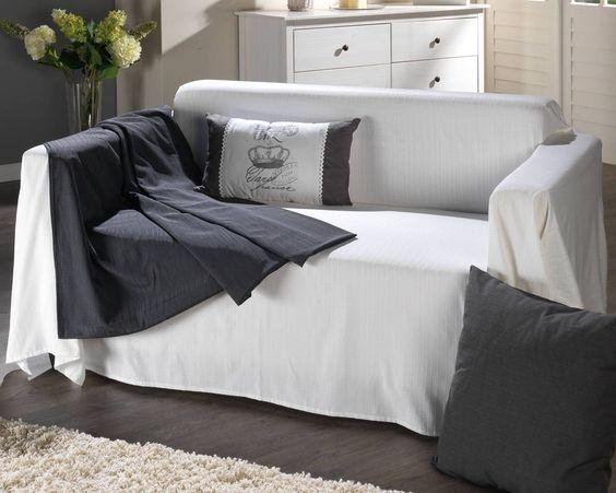 Sofaüberwurf »Boston« (cremeweiß) - Zubehör - Wohnzimmer - badezimmerm amp ouml bel 3 teilig