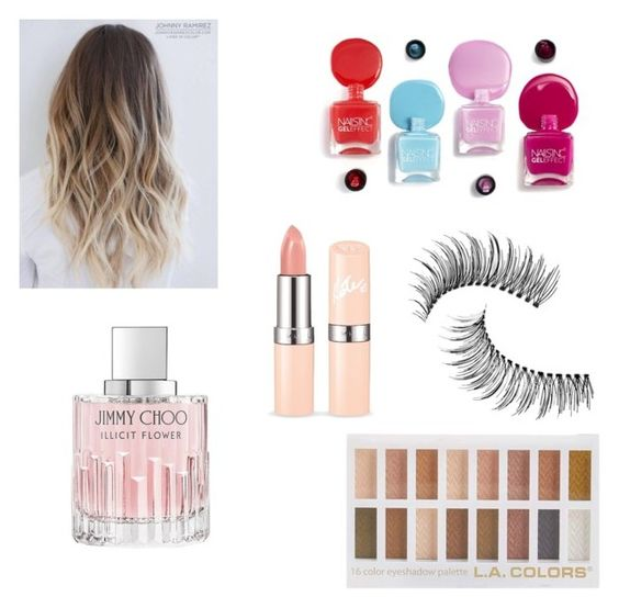 """""""beauty"""" by ideal1girl ❤ liked on Polyvore featuring beauty, Jimmy Choo and Trish McEvoy"""