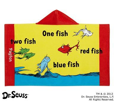 Easy towel~~~I love the Dr. Seuss™ One Fish, Two Fish Beach Wrap on potterybarnkids.com