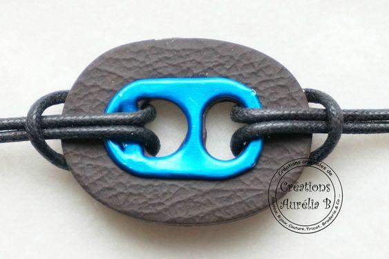 Création Aurélia B. - Bracelet avec languette de canette et argile polymère