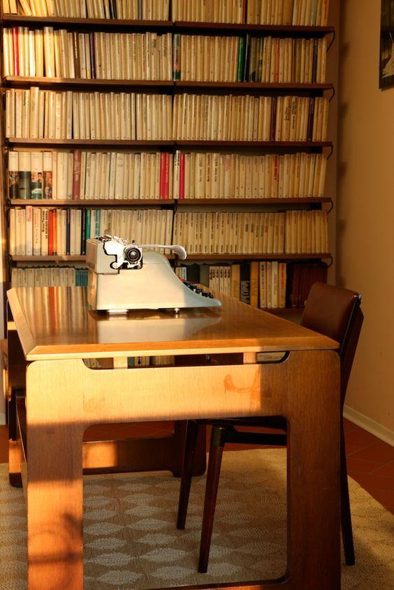 studio del poeta #VittorioSereni #Luino Library.  Fotografia Angelo Gargaglione