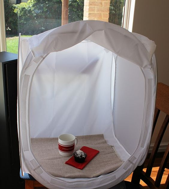 Home Studio Photography Light Box Made With Pop Up Laundry