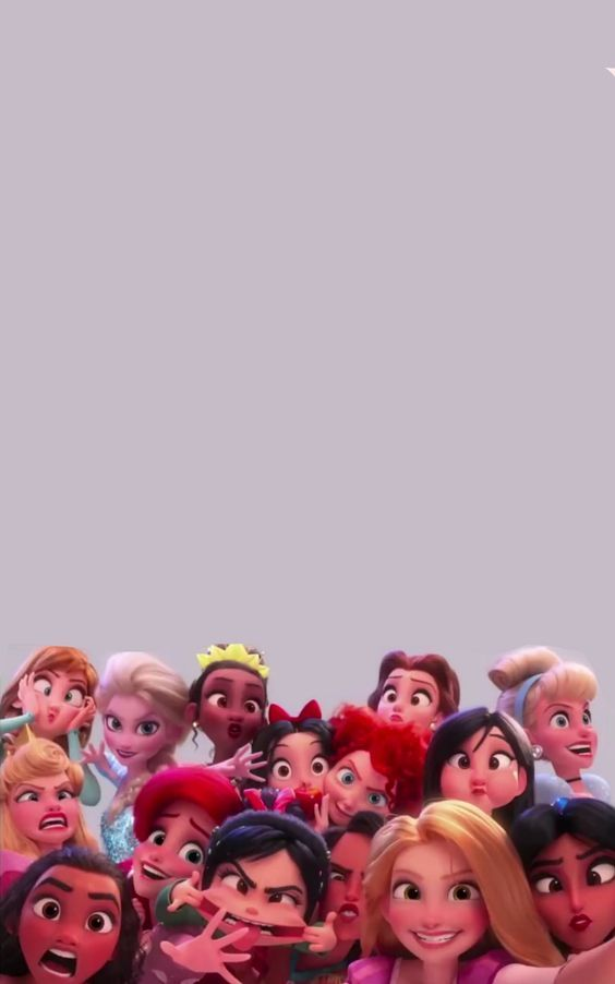 Vanellope And The Disney Princesses Funny Faces Lock Screen