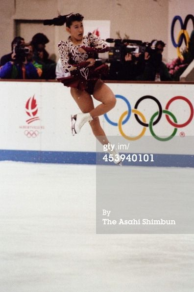 : Albertville Olympic Figure Skating Caption: ALBERTVILLE, FRANCE - FEBRUARY 21: (CHINA OUT, SOUTH KOREA OUT) Midori Ito of Japan compe...