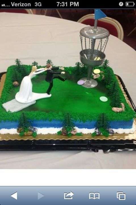 disc golf wedding cake topper should of been my wedding cake disc golf 13540