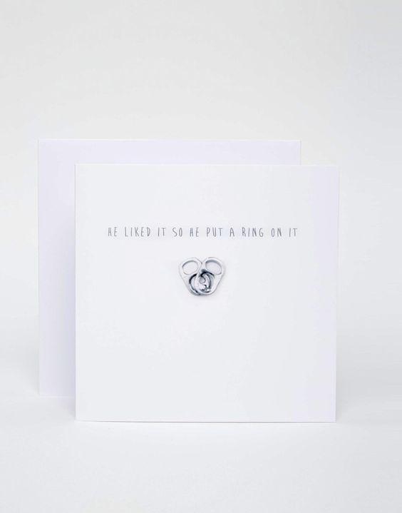 Geschenkkarte von The Naughty Little Card Shop Hochzeitskarte Textaufdruck vorne innen unbedruckt mit weißem Umschlag