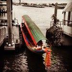 colorful boat on the Chao Praya River, Bangkok.