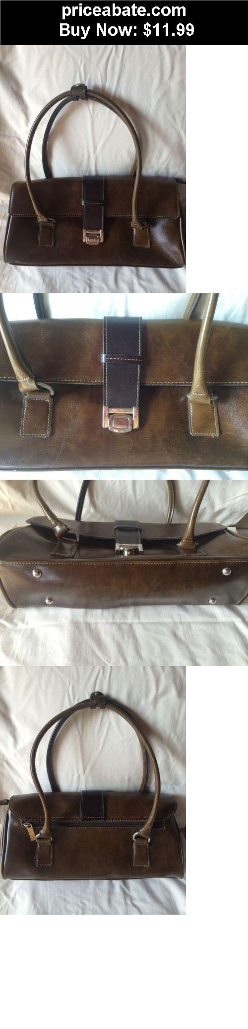 Women-Handbags-and-Purses: Vintage Brown Leather Satchel Syle  Tote Shoulder Bag Purse Handbag - BUY IT NOW ONLY $11.99