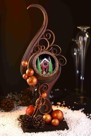 Inspiration: 2012 Christmas Chocolate Specials  #chocolate #showpieces #sculptures