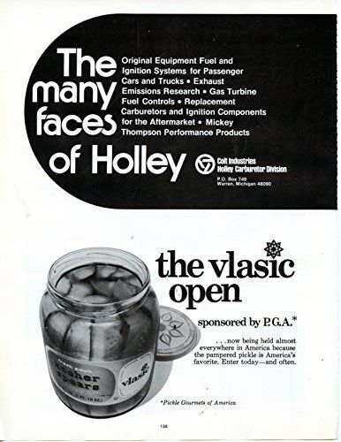 """Vlasic Pickel Vintage Magazine Ad- """"The Vlasic Open sponsored by the P.G.A."""