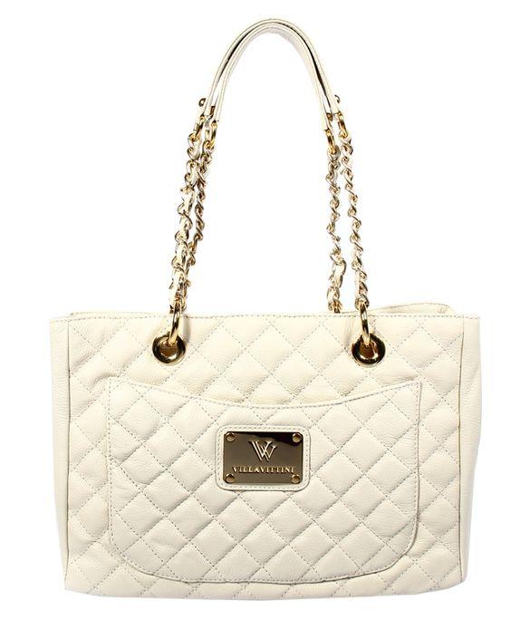 Bolsa em Couro Floater Off White com Alça em Corrente Ouro e Matelassê - feminino-bolsa-pasta-bolsas-femininas-bolsa-em-couro-floater-off-wh...