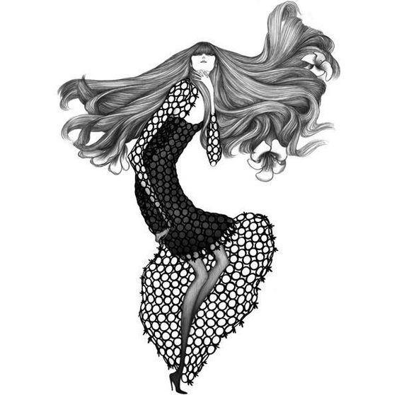 Laura Laine is a Helsinki based illustrator. She studied fashion design at University of Art and Design Helsinki. Focused on fashion illustration, she created awesome series of fashion drawings in exaggerated style.