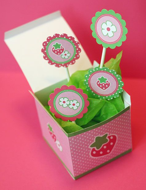 Cajita de frutillitas para imprimir: Treat Box, Printables Party, Bags Boxes, Berrylicious Tutorial, 5Th Strawberry, Printables Boxes, Printables Free, Free Printables