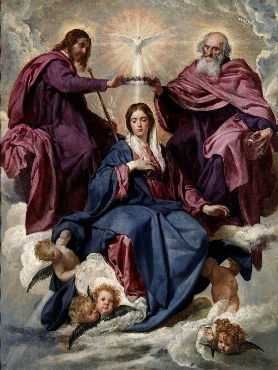 Coronation of the Virgin by Diego Velazquez, 1641-1644