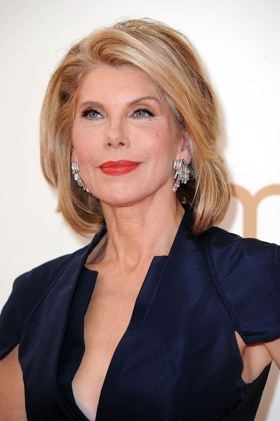 Christine Baranski Elegant and beautiful at 62.