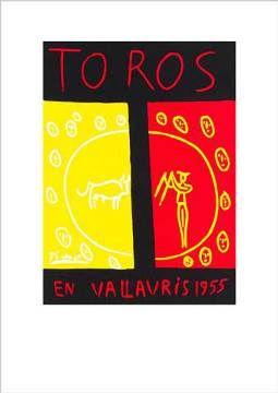 Pablo Picasso - Toros En Vallauris, 1955