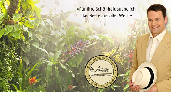 Dr. Oldhaver auf Reisen - immer auf der Suche nach Pflanzen für die Schönheit