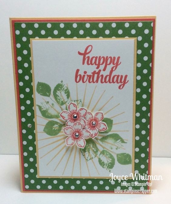 This Kinda Eclectic card along with Tin of Cards and Petite Petals stamp sets from Stampin' Up! make a cheerful birthday card.
