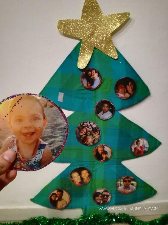 Creare un albero di Natale per bambini con fotografie tutorial