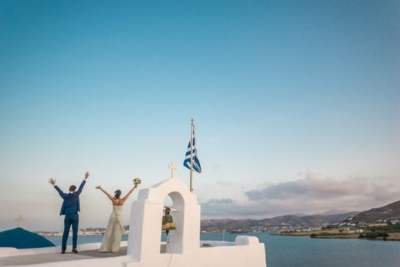 Wedding photography Greek church blue sea| lafete
