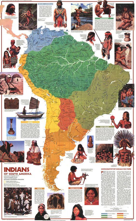 Индейцы Южной Америки, постер (от National Geographic).