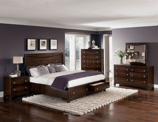 Bedroom Paint Colors With Cherry Furniture Home Delightful Enne S Decor Dark Wood Bedroom Furniture Brown Furniture Bedroom Bedroom Paint Colors Master