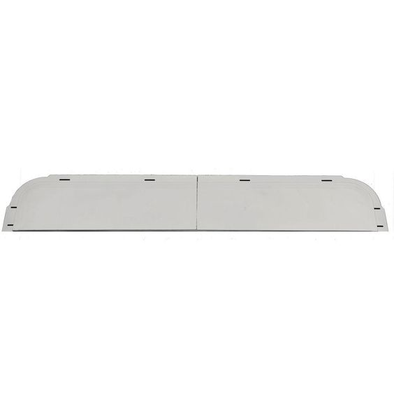 Builders Edge 6 in. x 37 5/8 in. J-Channel Back-Plate for Window Header in 030 Paintable, Gray