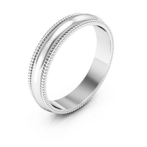 Platinum 4mm Milgrain Wedding Bands Dellafora In 2020 Milgrain Wedding Bands Womens Wedding Bands Wedding Bands