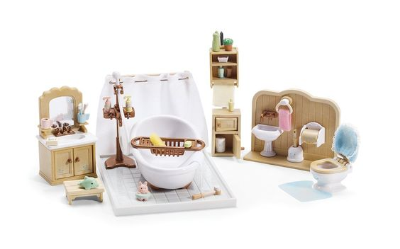 Amazon.com: Calico Critters Deluxe Bathroom Set: Toys & Games
